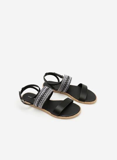 Giày Sandal Đế Bệt SDK 0271 - Màu Đen - VASCARA