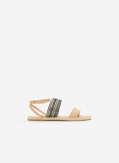 Giày Sandal Đế Bệt SDK 0271 - Màu Be - vascara