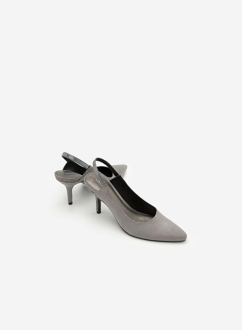 Giày Cao Gót BMN 0265 - Màu Xám - vascara
