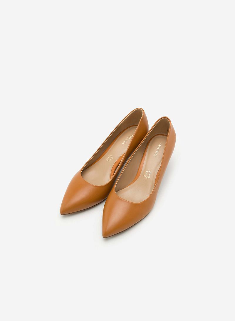 Giày Bít Gót Nhọn BMN 0267 - Màu Nâu Sáng - vascara