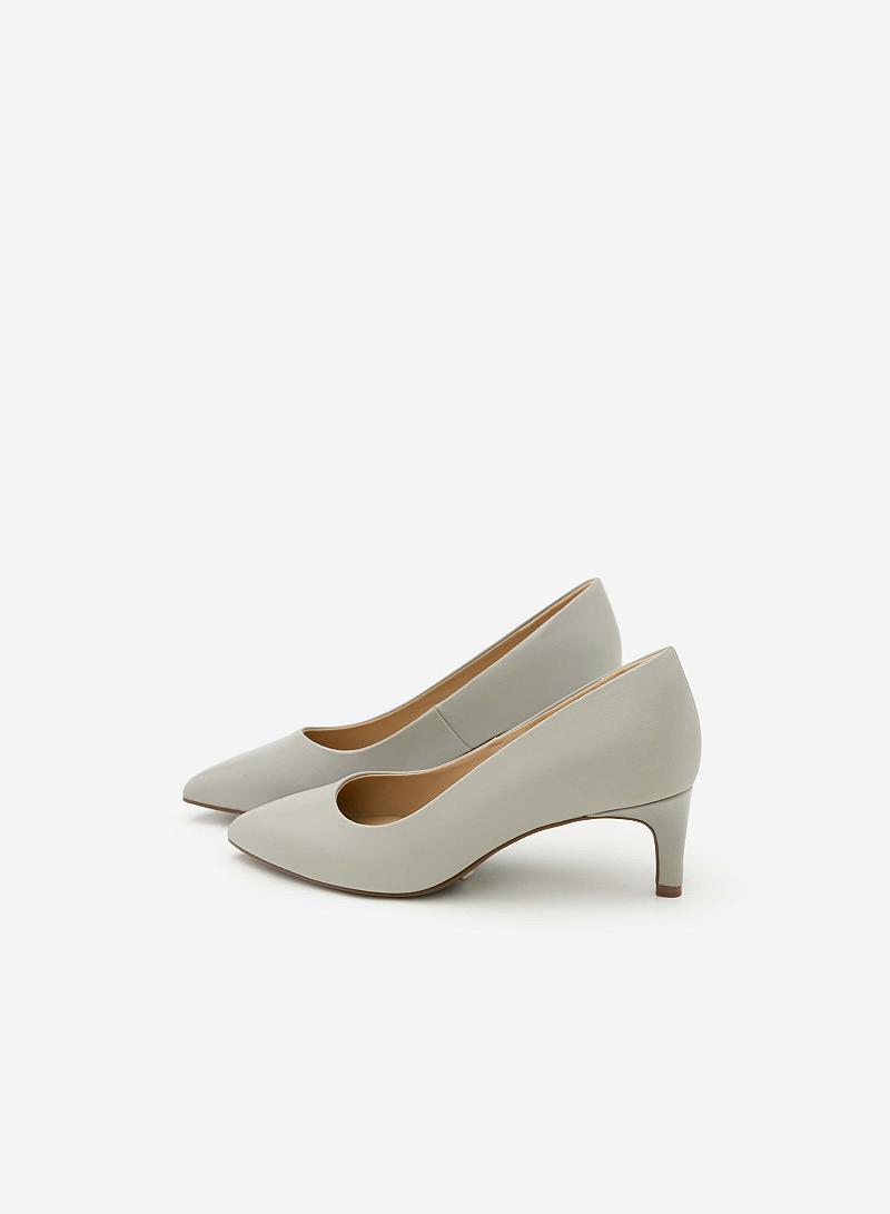 Giày Bít Gót Nhọn BMN 0267 - Màu Xám Nhạt - vascara