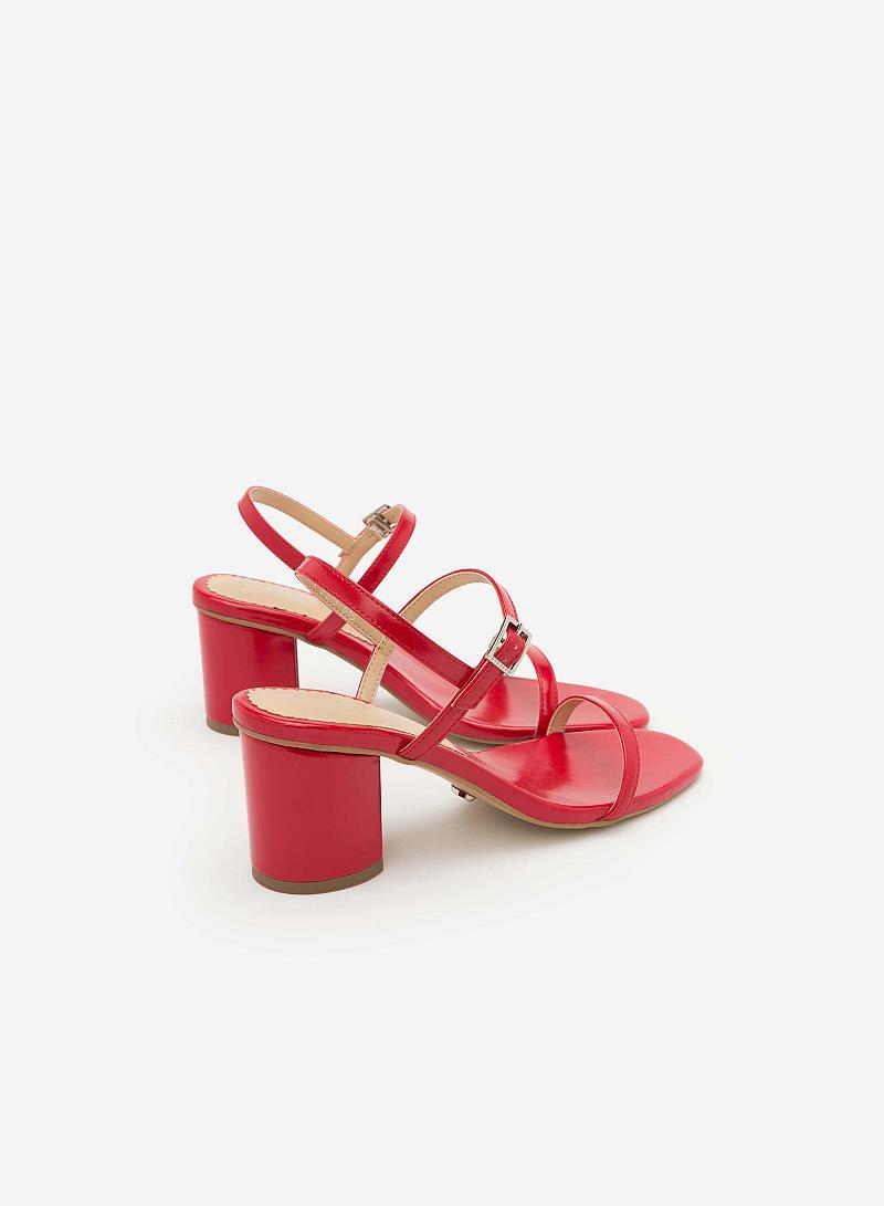 Giày Sandal Gót Vuông SDN 0590 - Màu Đỏ - vascara