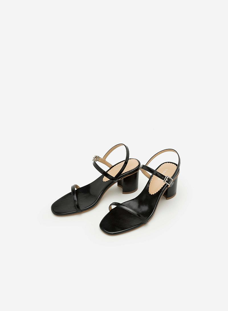Giày Sandal Gót Vuông SDN 0590 - Màu Đen - vascara