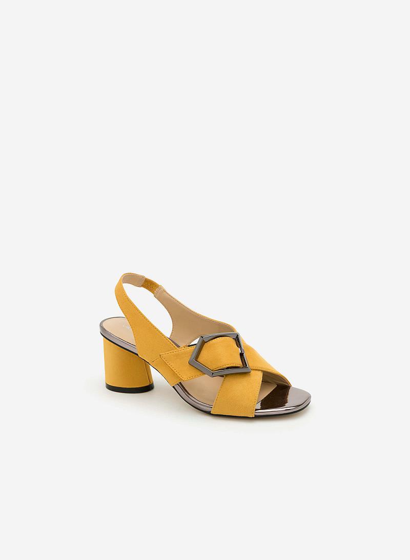 Giày Sandal Gót Vuông SDN 0592 - Màu Vàng Đậm - VASCARA