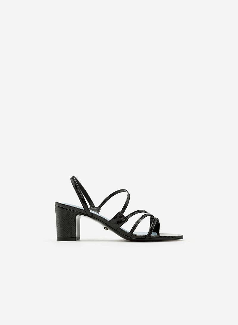 Giày Sandal Gót Vuông SDN 0598 - Màu Đen - vascara
