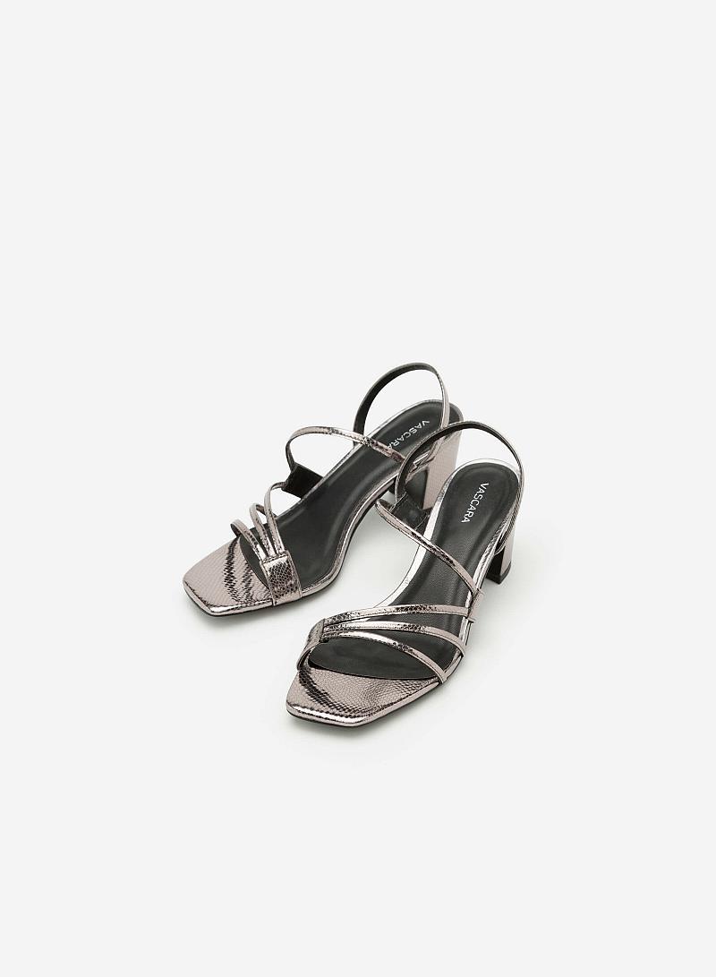 Giày Sandal Gót Vuông SDN 0598 - Màu Xám Khói Đậm - VASCARA