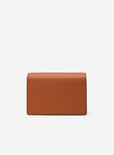 Túi Đeo Chéo Phối Nubuck - SHO 0113 - Màu Nâu - VASCARA