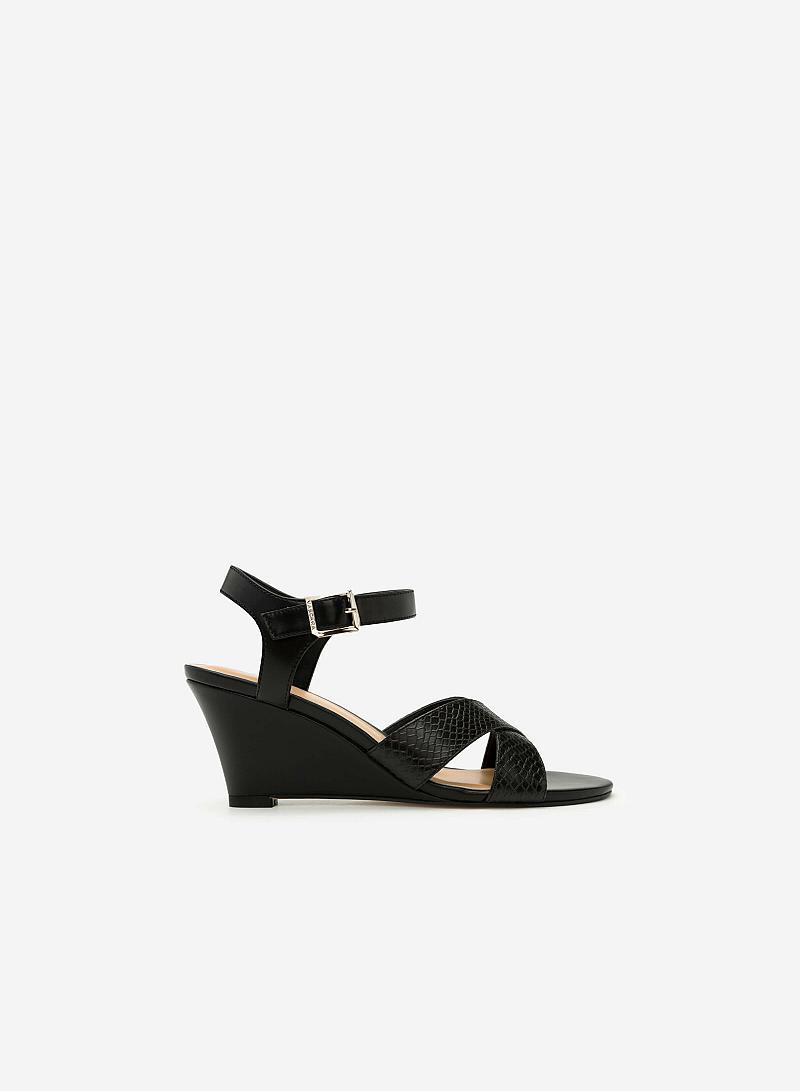 Giày Sandal Đế Xuồng - SDX 0405 - Màu Đen - vascara