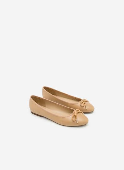 Giày Búp Bê Đính Nơ - GBB 0406 - Màu Be - vascara.com