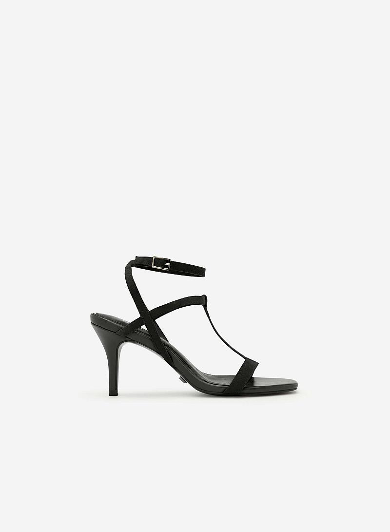 Giày Sandal T-Strap Gót Nhọn - SDN 0621 - Màu Đen - vascara
