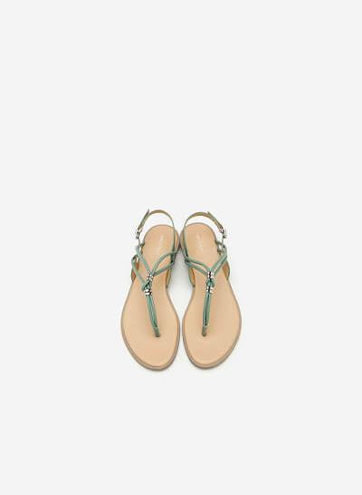 Giày Sandal Quai Kẹp - SDK 0288 - Màu Xanh Bạc Hà