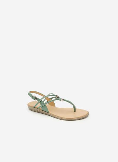 Giày Sandal Quai Kẹp - SDK 0288 - Màu Xanh Bạc Hà - vascara