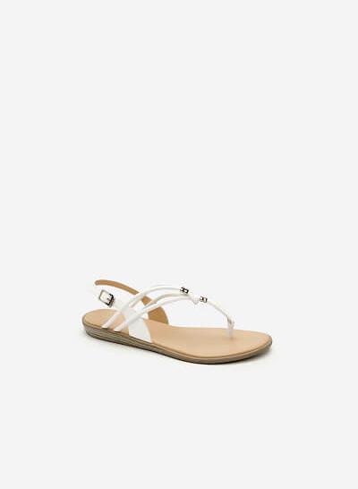 Giày Sandal Quai Kẹp - SDK 0288 - Màu Trắng - VASCARA