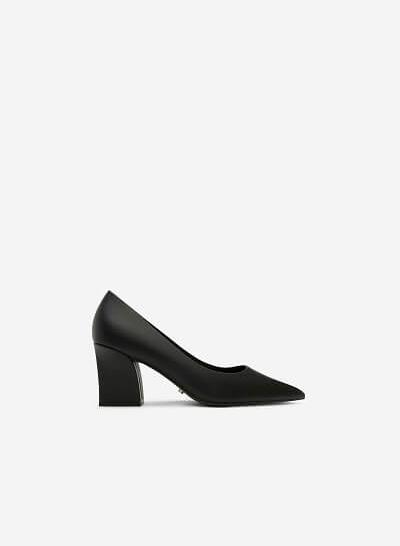 Giày Bít Mũi Nhọn Gót Vuông - BMN 0326 - Màu Đen