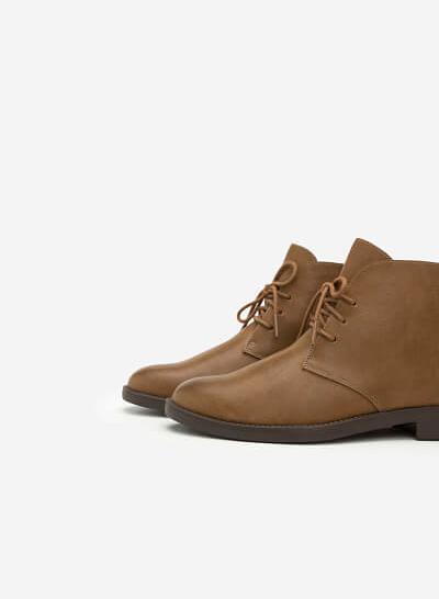 Giày Boots Cổ Điển - BOT 0875 - Màu Nâu Sáng - VASCARA