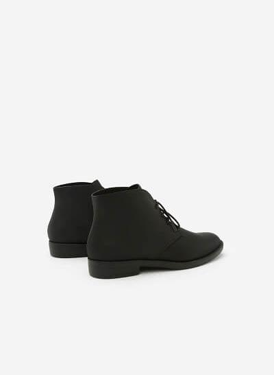 Giày Boots Cổ Điển - BOT 0875 - Màu Đen - VASCARA