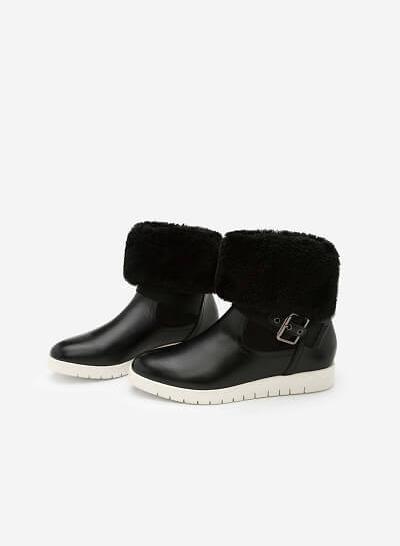 Giày Boots Chần Bông - BOT 0892 - Màu Đen - vascara