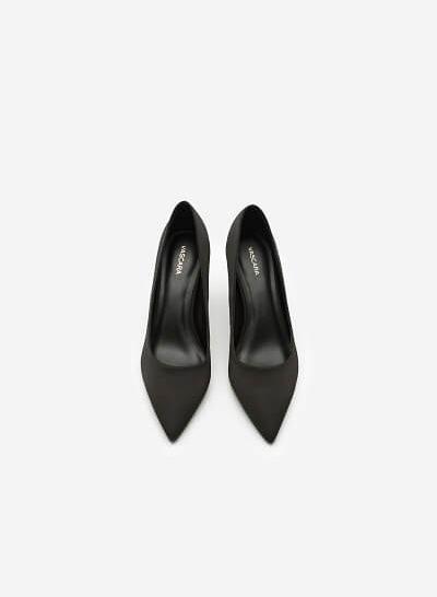 Giày Cao Gót Nhọn Bít Mũi - BMN 0312 - Màu Đen - VASCARA