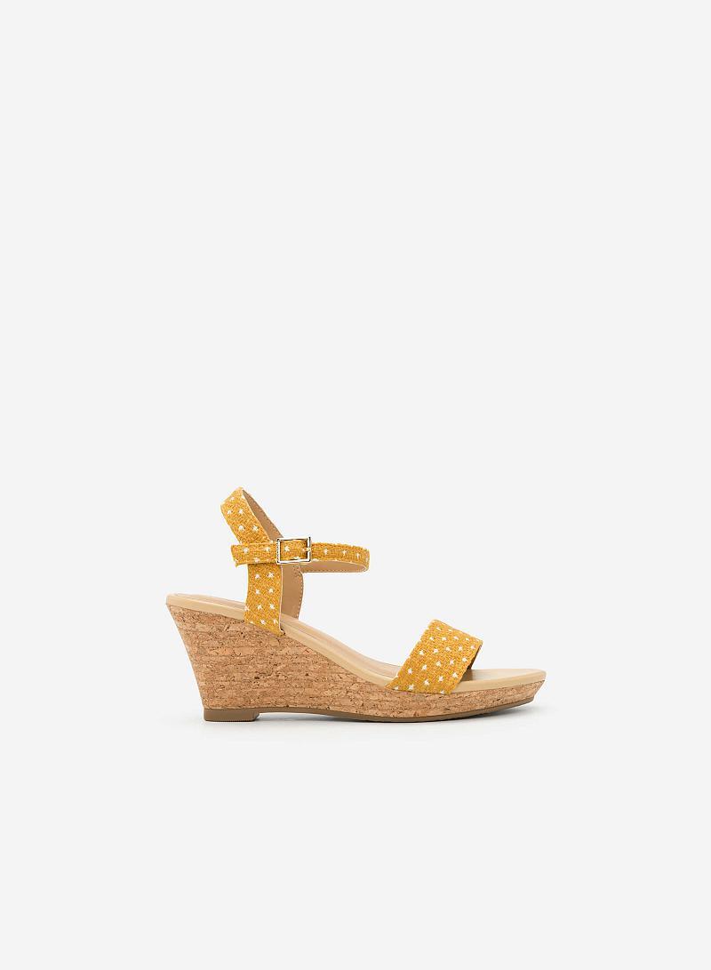 Giày Đế Xuồng Họa Tiết Chấm Bi - SDX 0406 - Màu Vàng - vascara