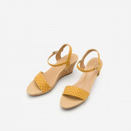 Giày Đế Xuồng Họa Tiết Chấm Bi - SDX 0406 - Màu Vàng
