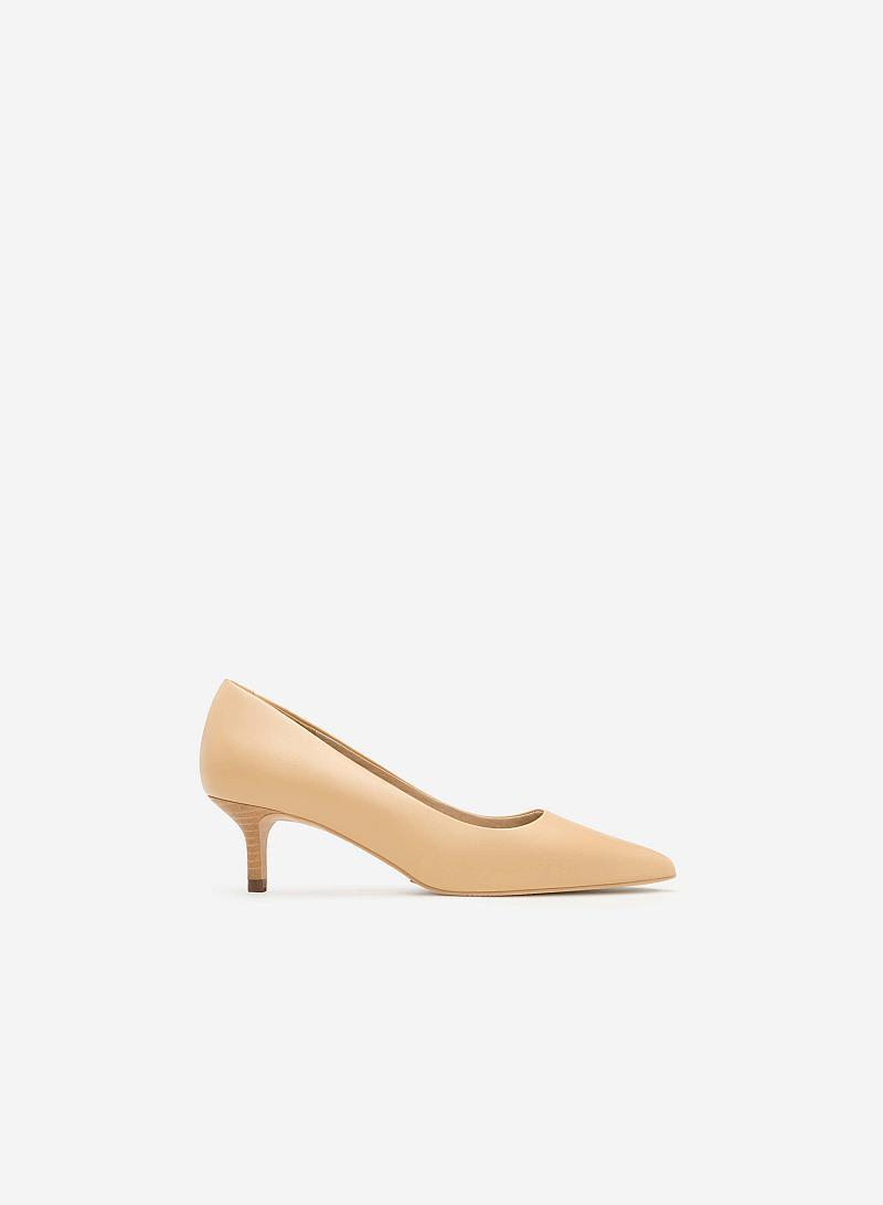 Giày Bít Gót Nhọn - BMN 0310 - Màu Be - vascara.com