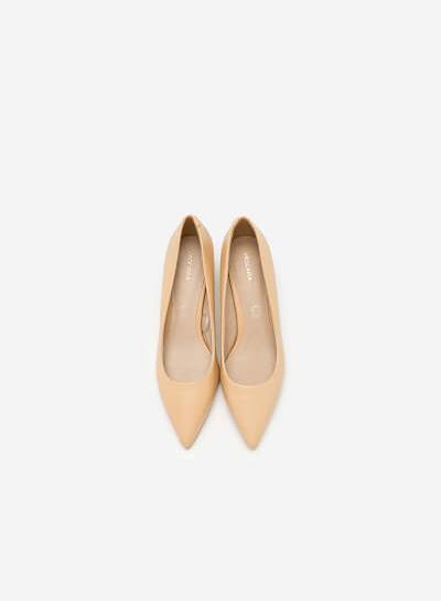 Giày Bít Gót Nhọn - BMN 0310 - Màu Be - VASCARA