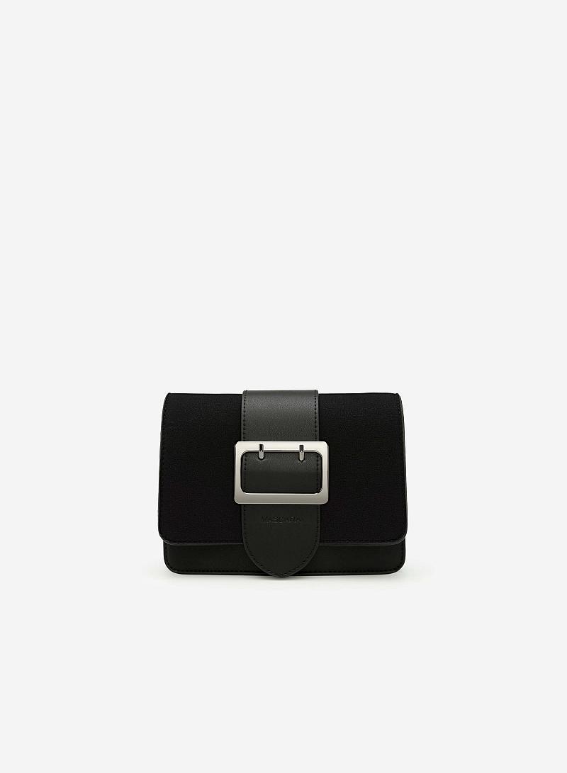 Túi Đeo Chéo Phối Belt - SHO 0118 - Màu Đen
