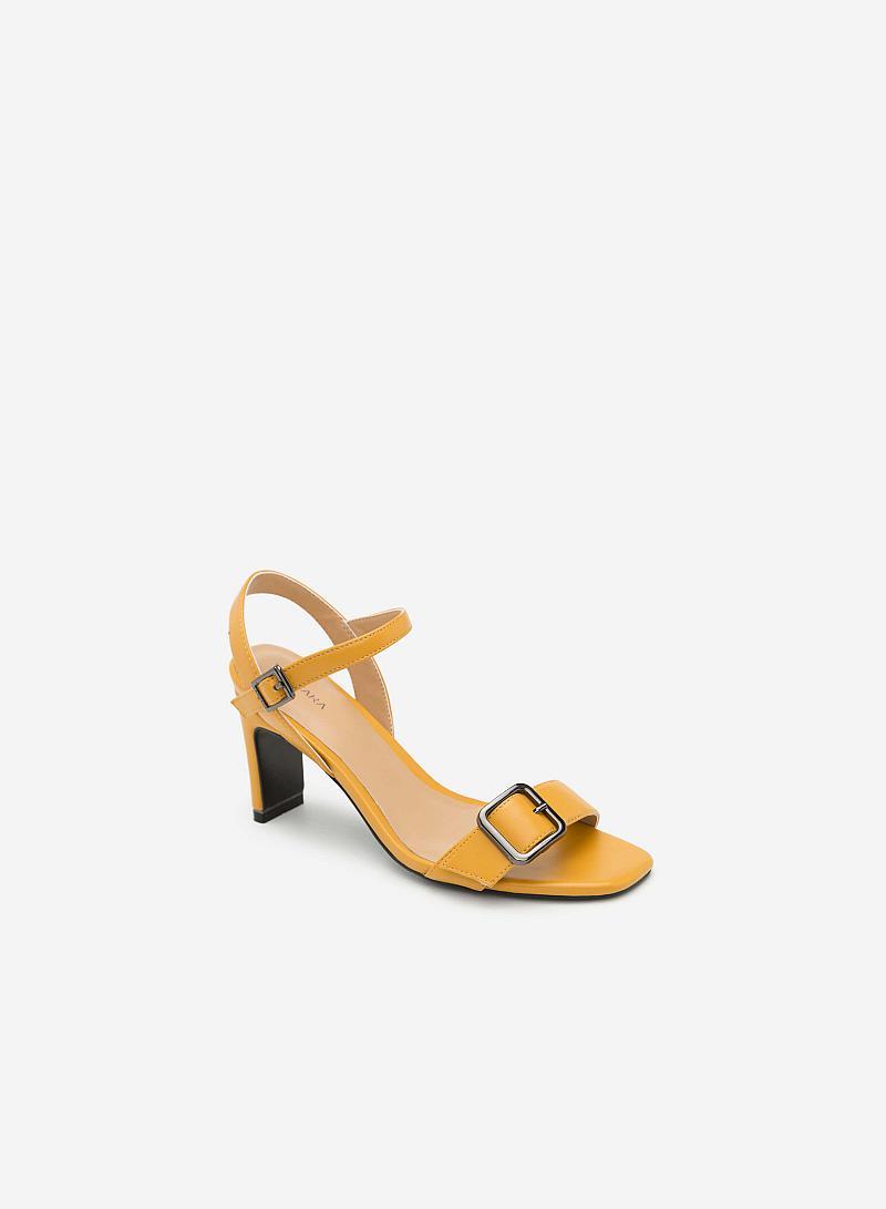 GIày Sandal Cao Gót Đính Khóa - SDN 0617 - Màu Vàng - VASCARA