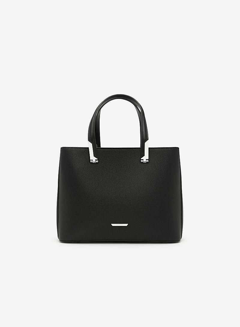 Túi xách tay viền kim loại - SAT 0116 - Màu Đen - vascara