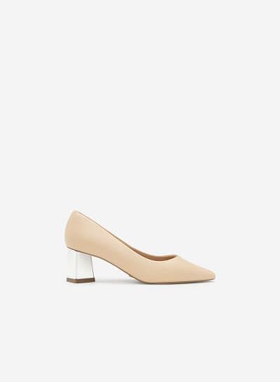Xem sản phẩm Giày Bít Mũi Gót Tráng Gương - BMN 0316 - Màu Be