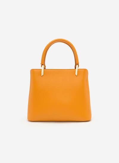 Túi xách họa tiết da rắn - SAT 0214 - Màu Vàng - vascara