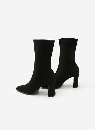 Giày Boots Da Lộn - BOT 0877 - Màu Đen - VASCARA