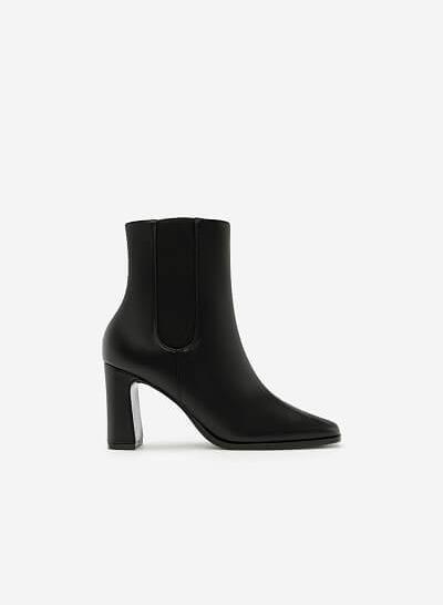 Giày Boots Khóa Kéo - BOT 0879 - Màu Đen