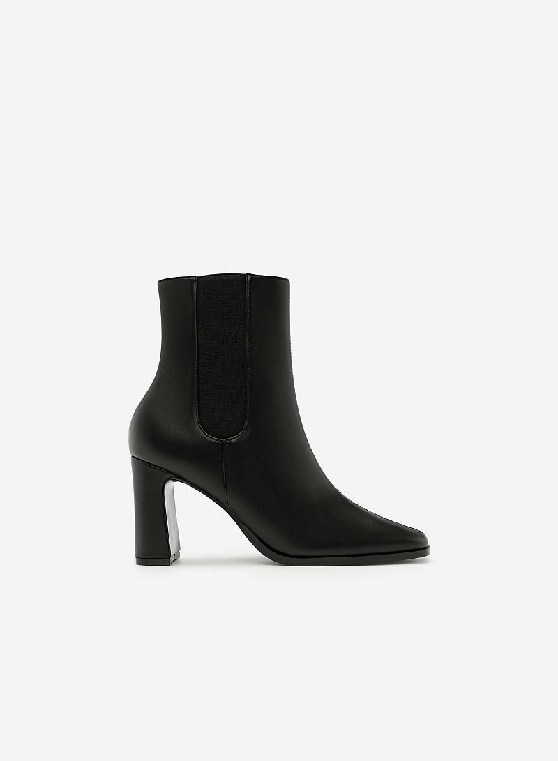 Giày Boots Khóa Kéo - BOT 0879 - Màu Đen - vascara