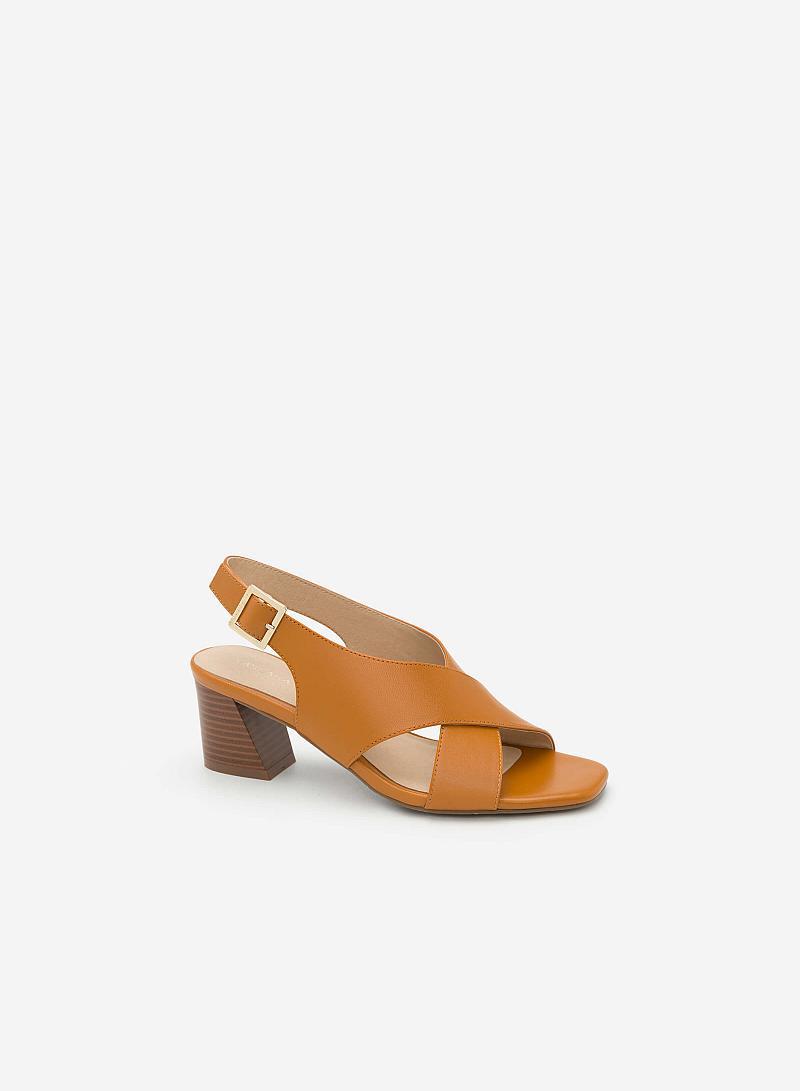 Giày Sandal Cao Quai Đan Chéo - SDN 0615 - Màu Nâu - vascara.com