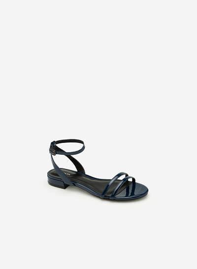 Giày Sandal Quai Ngang - SDK 0287 - Màu Xanh Navy - vascara