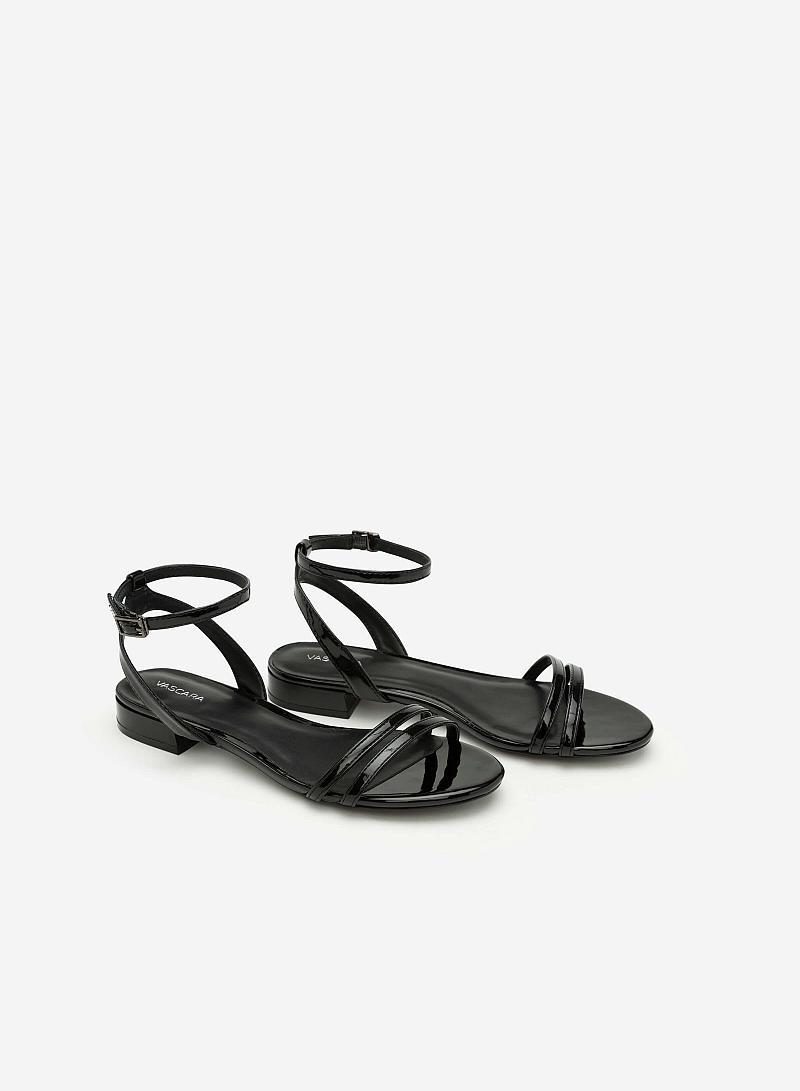 Giày Sandal Quai Ngang - SDK 0287 - Màu Đen - VASCARA