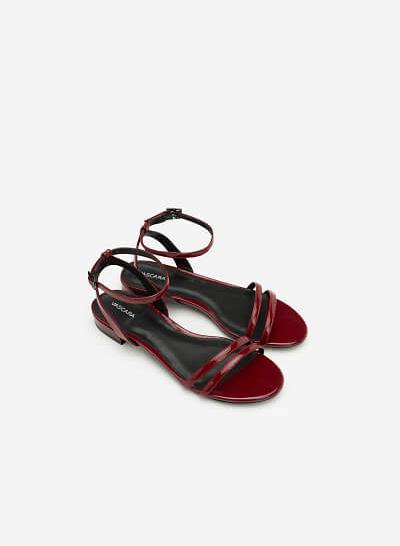 Giày Sandal Quai Ngang - SDK 0287 - Màu Đỏ Đậm