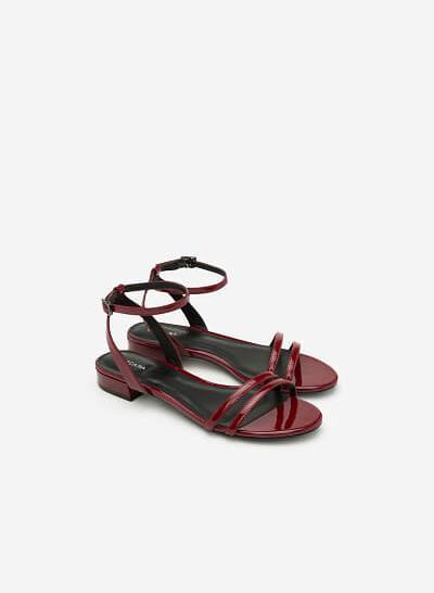 Giày Sandal Quai Ngang - SDK 0287 - Màu Đỏ Đậm - vascara