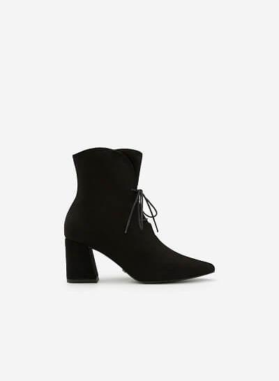 Giày Boots Gót Vuông - BOT 0888 - Màu Đen