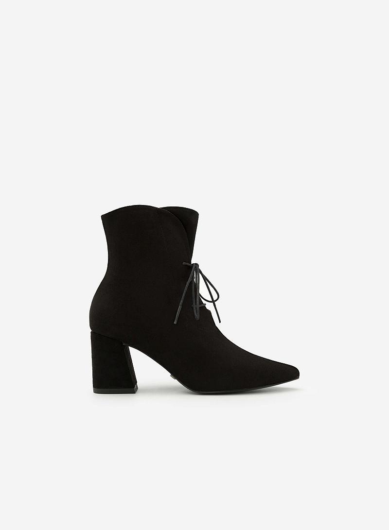 Giày Boots Gót Vuông - BOT 0888 - Màu Đen - VASCARA