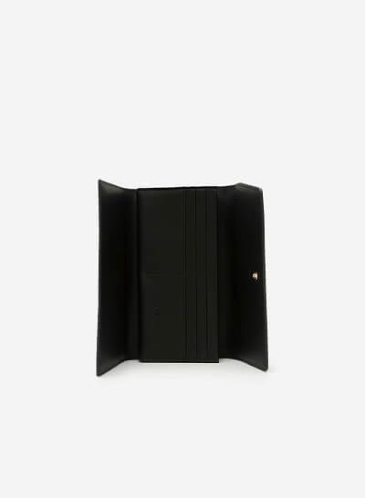 Ví Cầm Tay Phối Nubuck - WAL 0153 - Màu Đen - VASCARA