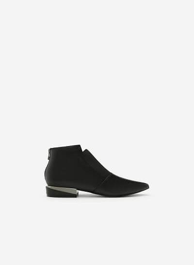Giày Boots Gót Ánh Kim - BOT 0889 - Màu Đen - vascara.com
