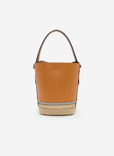 Bucket Bag Viền Cói - TOT 0043 - Màu Nâu - VASCARA