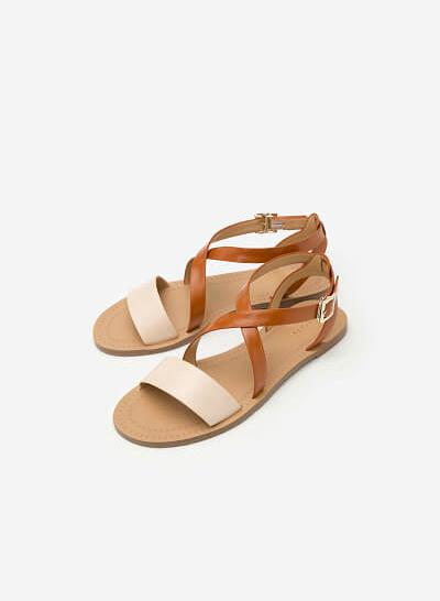 Giày Sandal Quai Đan Chéo - SDK 0283 - Màu Nâu - vascara
