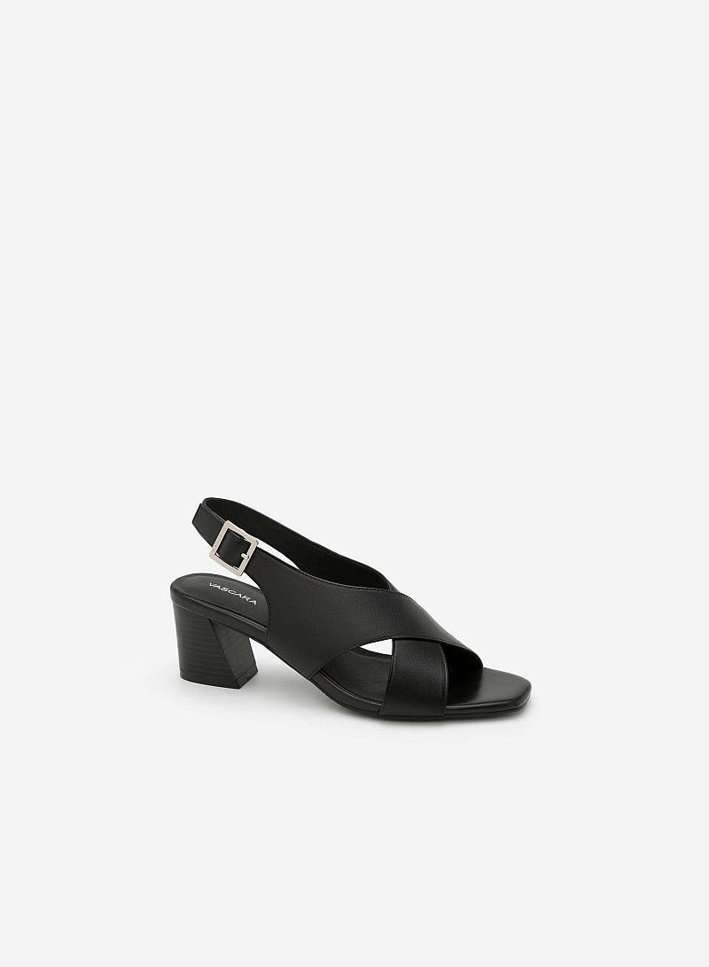 Giày Sandal Cao Quai Đan Chéo - SDN 0615 - Màu Đen - vascara.com