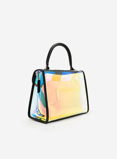 Túi Xách Tay Plastic hologram -  Màu Trong Suốt - SAT 0210 - vascara