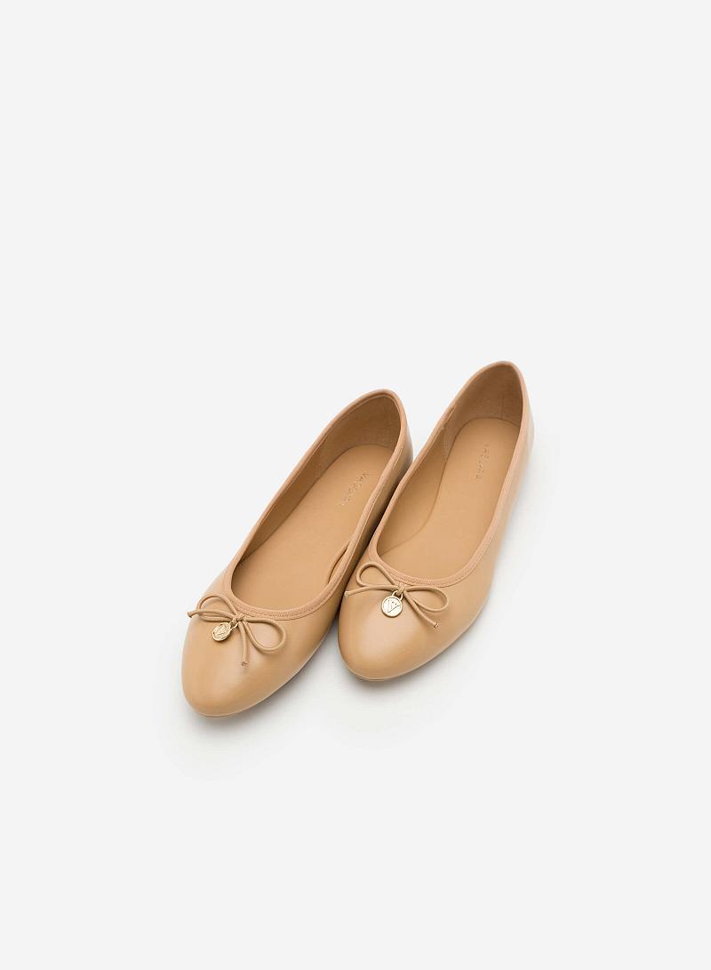 Giày Búp Bê Đính Nơ - GBB 0405 -  Màu Be - VASCARA