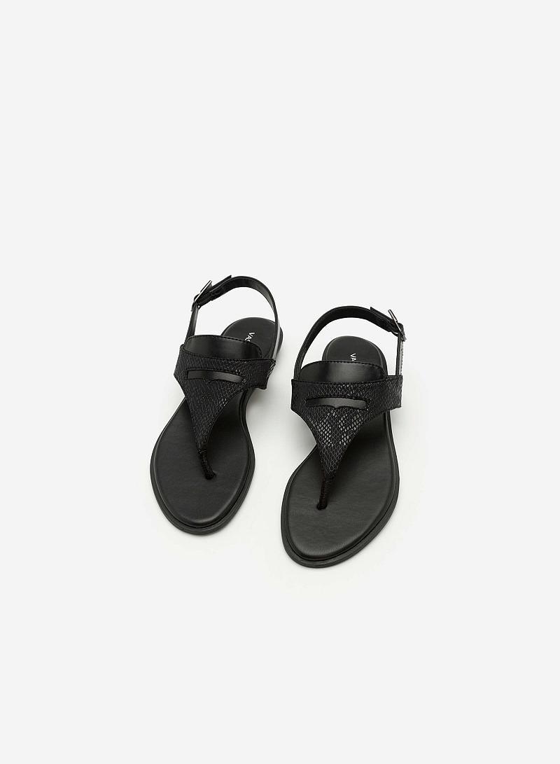 Giày Sandal Quai Kẹp - SDK 0285 -  Màu Đen - vascara