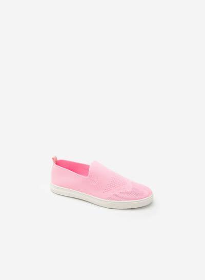 Giày Sneaker Vải Lưới -  Màu Hồng - SNK 0011